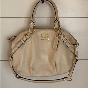 Coach Cream Leather Bag 15960